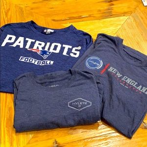 New England Patriots & Hylete Men's 3pc Tee Bundle